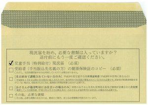 Return envelope back (Nagoya)