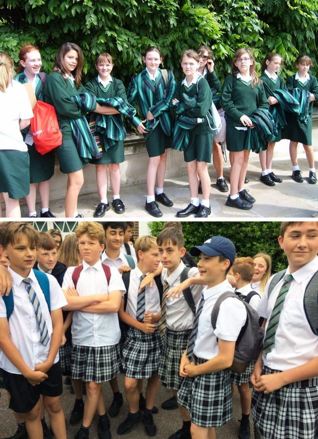 15 Countries And Their Typical School Uniforms Japan Inside