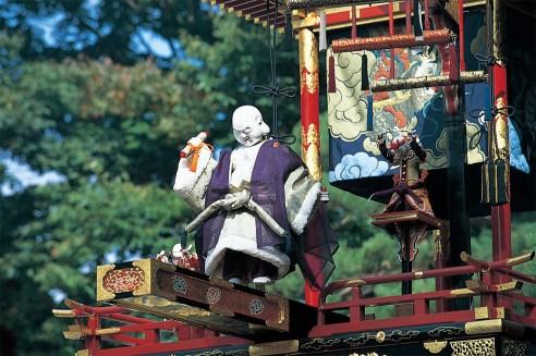 岐阜県、高山祭のからくり人形。祭礼時には人形も神となる。