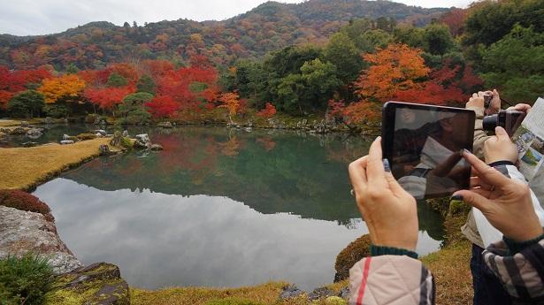 touristes japon automne feuilles