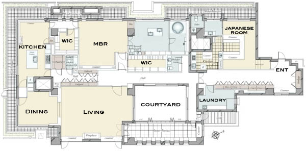 The House Minamiazabu Penthouse Floorplan Now Available