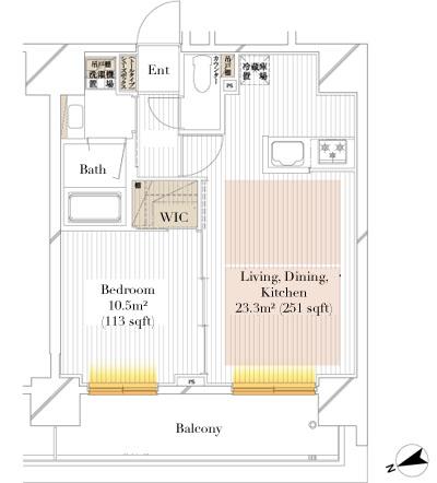 Unible Ginza Higashi B Type Floorplan
