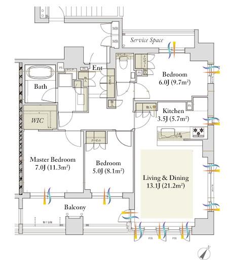Geo Akasaka Tangocho E Type Floorplan