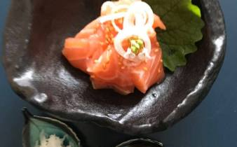 sashimi med laks