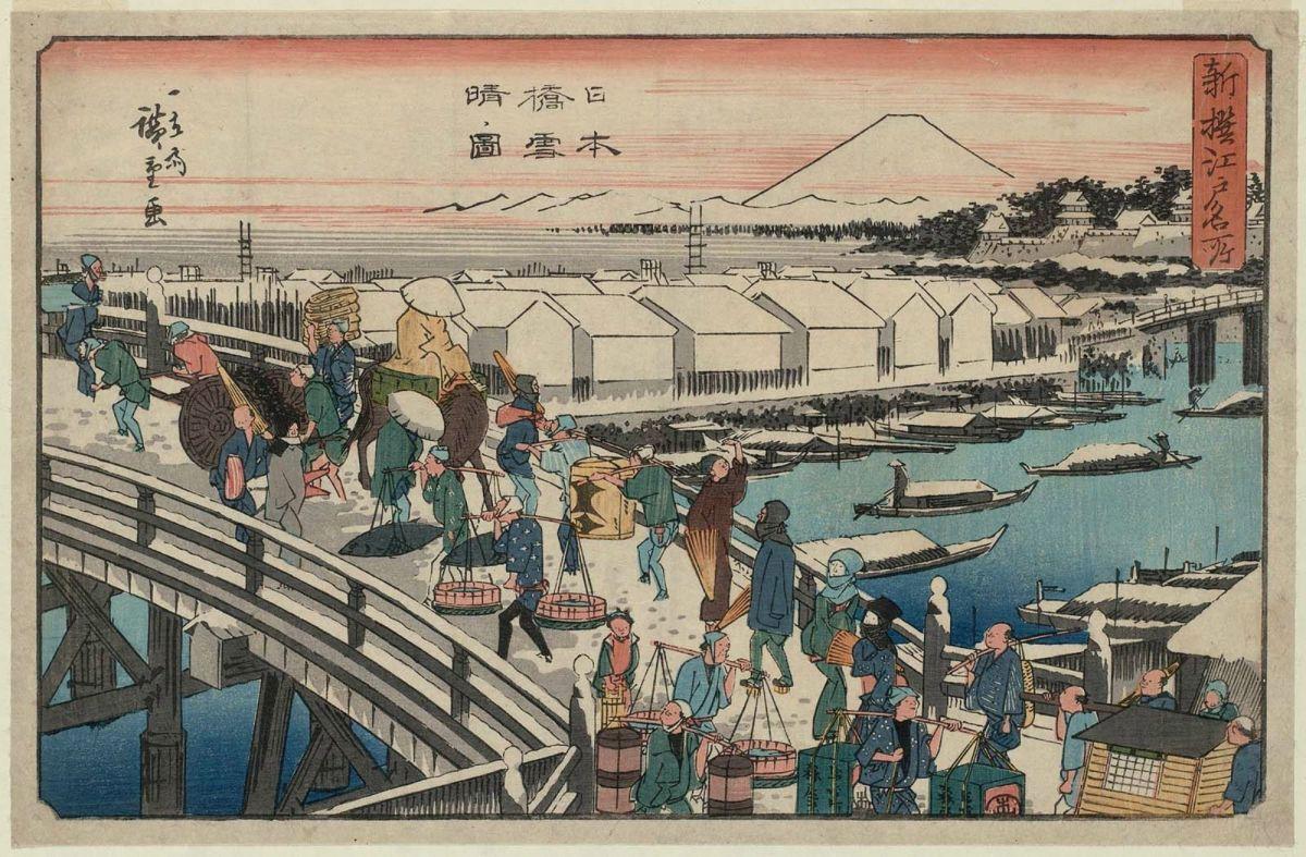 nihonbashi winter ukiyoe