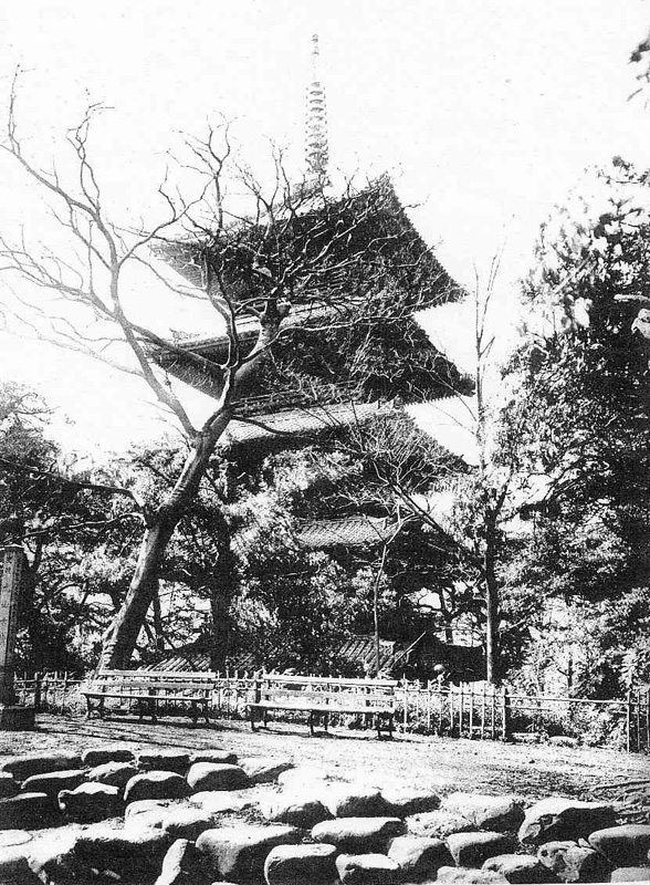 The 5-story pagoda of Zojoji