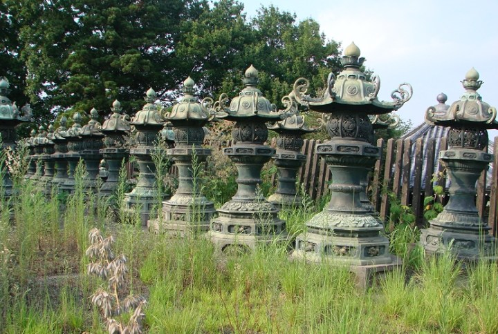 Bronze lanterns from Bunsho-in (Tokugawa Ienobu) in Saitama.