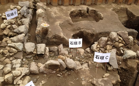 Excavations of the foundations