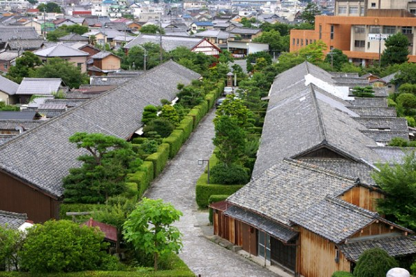 Typical samurai residences.