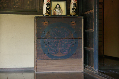 Tansu - a traditional Japanese chest of drawers (dresser).