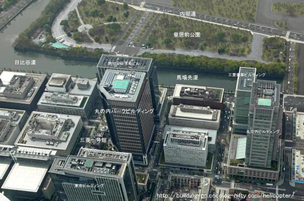This is Marunouchi, not Yurakucho, but you can see the proximity to the inner moat.