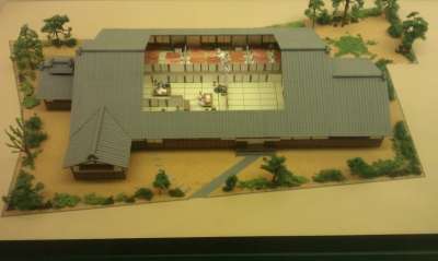 Model of the Recuperation Facility (with roof cut away).