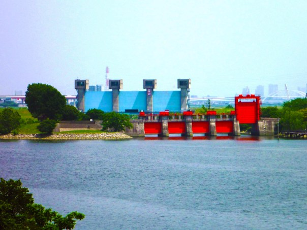 The Imabuchi Flood Gate. There are actually two of them now. Take a good look at these gates and think about what they do. Then continue reading.