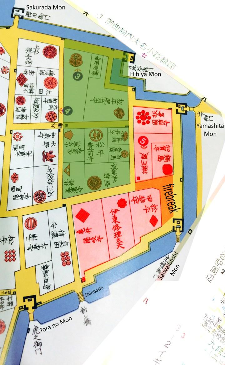 Hibiya Park and Uchisaiwaicho in the Edo Period.