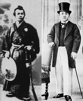 Shibusawa Eiichi in 1866 and then in 1867.