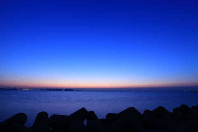 Wakasu Park is probably furthest accessible point of Tokyo Bay.