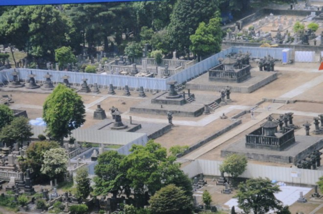Ruins of the shogun graves at Kan'ei-ji as they were in the 1960's