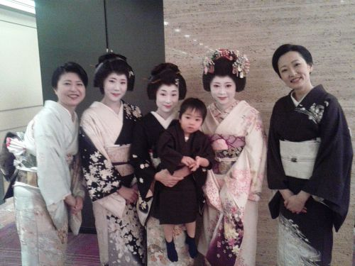 Yes, those are real geisha. And no, geisha babies are not called