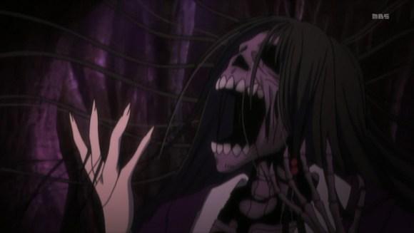 Izanami rotting in the underworld