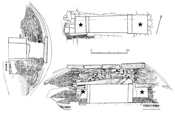 Inside a kofun burial chamber.