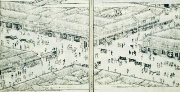 Ginza in the Edo Period - Owari-cho - the old Tokaido Highway