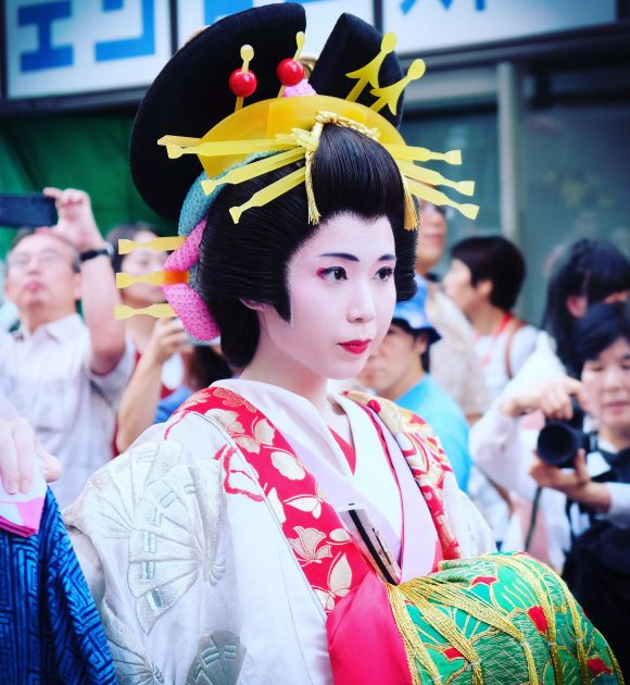 Oiran at the 2019 Shinagawa-shuku Oiran Dochu. sites i like