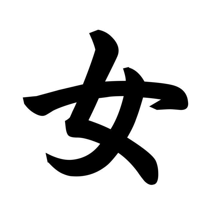kanji for tourists - onna - woman