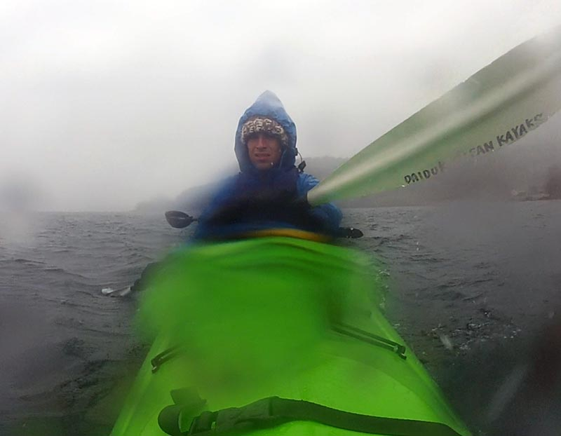 Snow Kayak Training with Koji