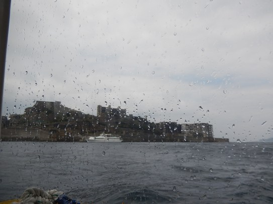 Gunkanjima from the ship