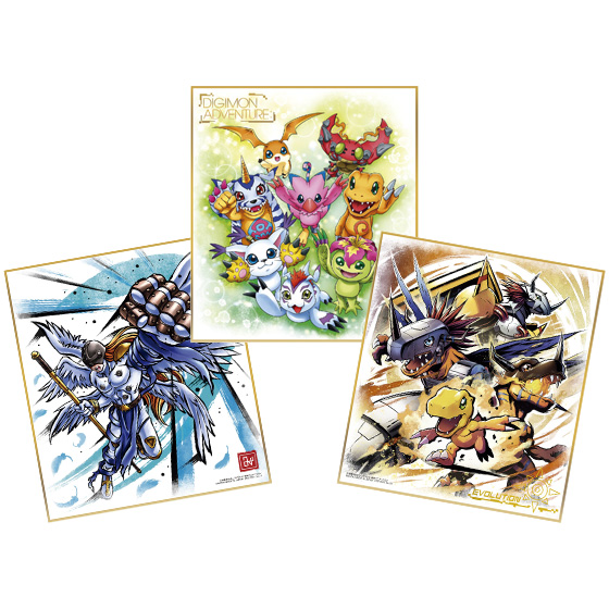 Digimon Adventure Ichiban Kuji Shikishi Art Set Color Paper Taichi Agumon Sealed