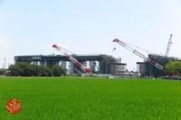 Sensitive spot big scale high way construction, Kenoudou accross Shinkansen. (32)