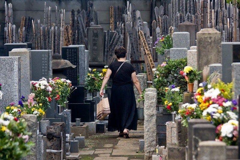 Cementerio Yanaka (Ueno, Tokio). Fiesta del Equinoccio en Japón