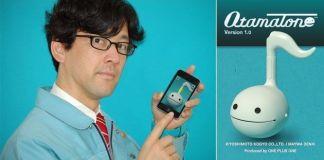 Nobumichi Tosa y la versión para iPhone de su Otamatone(オタマトーン)