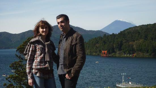 Con el Monte Fuji a nuestras espaldas