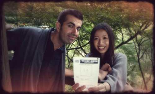 Votando por un carácter chino para la elección de Kanji del Año (otoño de 2011)