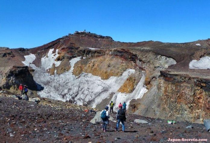 Vista del cráter del monte Fuji. Guía para subir al Fuji (japon-secreto.com)