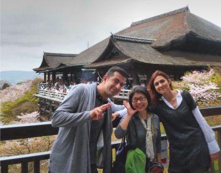 Pilar, Javi y Miyuki en Kiyomizudera