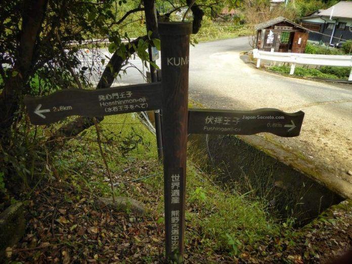 Cartel de la ruta Kumano Kodo