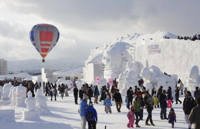 Festivales de Japón: Festival de Invierno de Asahikawa (旭川冬まつり,