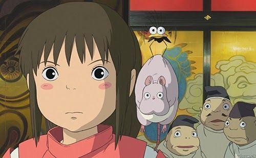 """Acompañada por todos sus amiguitos kawaii. """"El Viaje de Chihiro"""" (""""千と千尋の神隠し"""", 2001)"""