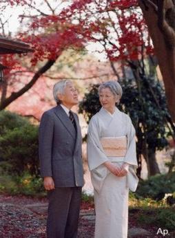 Akihito y Michiko, emperador y emperatriz de Japón