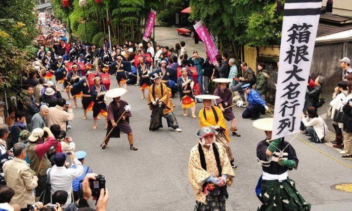 Festivales de Japón en noviembre: la Daimyō Gyōretsu(大名行列) o Desfilede los Señores Feudales.