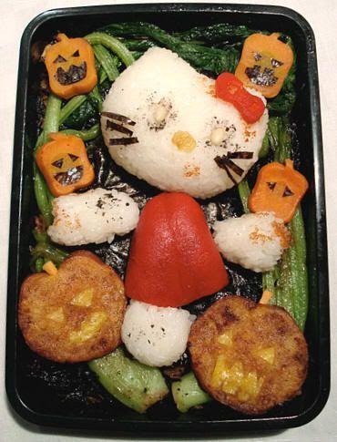 Caja Bento especial Hello Kitty de Halloween. Halloween en Japón