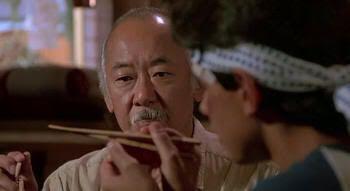 """Atrapando la mosca con palillos en """"Karate Kid"""" (1984)"""