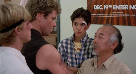 "Daniel san y el profesor Miyagi en ""Karate Kid"" (1984)"