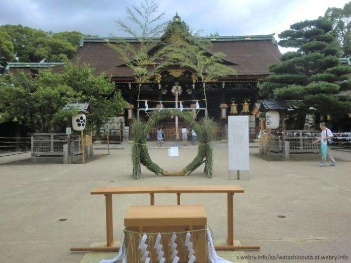 Ritual Nagoshi No Harae en el santuario Kenkun