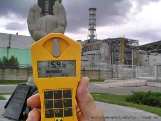 Fukushima (Japón): ¿Cómo medir la radiación nuclear?. Imagen de la medición de la radiación de Chernobyl en junio de 2010