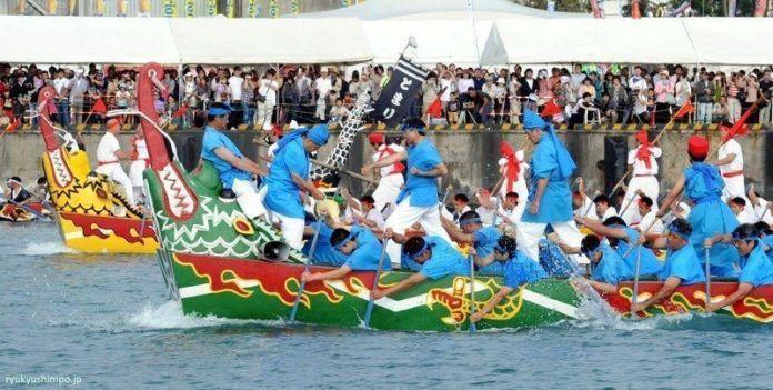 Festivales de Japón: Hari de Naha, carreras de barcas del dragón. Celebrado cada año del 3 al 5 de mayo en Naha, la capital de Okinawa