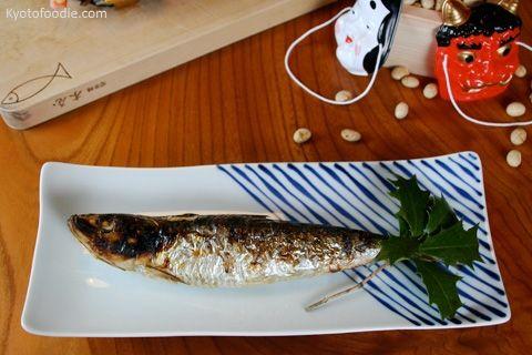Comer sardinas durante el setsubun