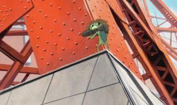 """Torre de Tokio en """"El Verano de Coo"""" (河童のクゥと夏休み, 2007)"""